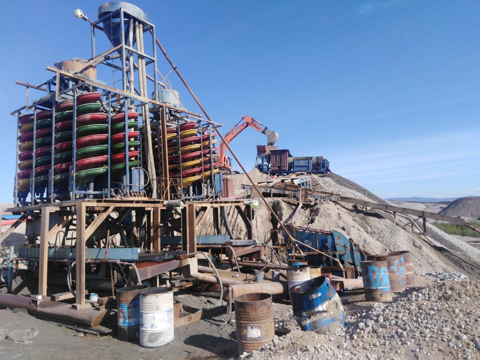 Дополнительные резервы при применении винтовой сепарации на техногенных отвалах россыпного месторождения Юрское (Якутия)