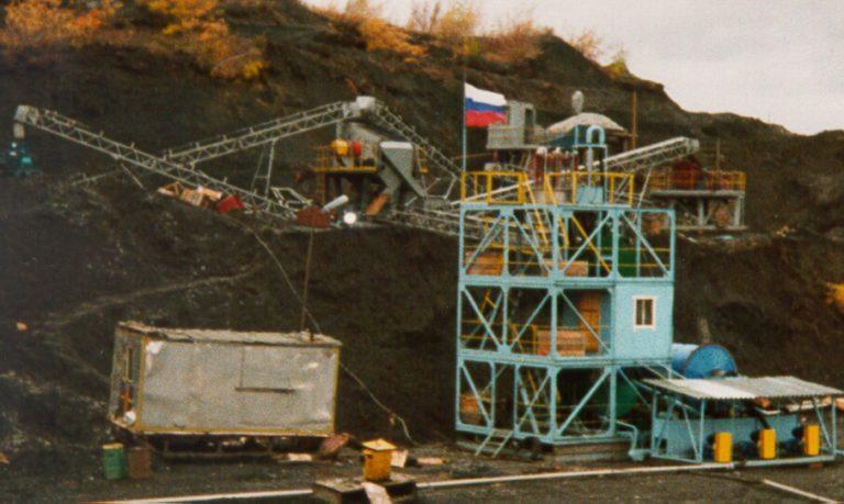 Фотография модульной установки на месторождении «Молодежное»